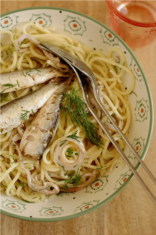 Spaghetti andouille & sardine