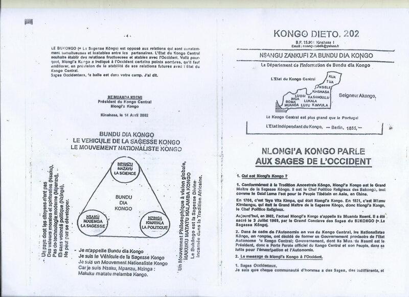 NLONGI A KONGO S'ADRESSE AUX SAGES DE L'OCCIDENT a