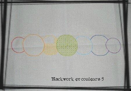 Blackwork en couleurs 5