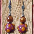 BO perles à pic carmin et orange (N)