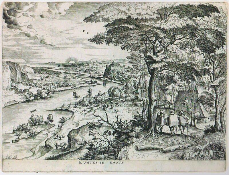 Brueghel pieter ancien voyage a emmaus c