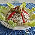 Salade russe au fromage blanc