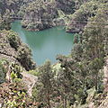 lac dans le cratère de Wenchi