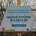 Réinventer la seine c'est surtout ramasser les déchets pour des berges saines ! que fait morin?