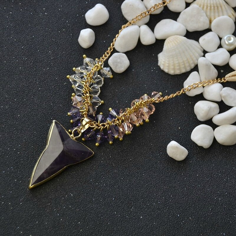 pandahall-diy-idea-on-crystal-beads-cluster-necklace-with-triangle-amethyst-pendants03_2
