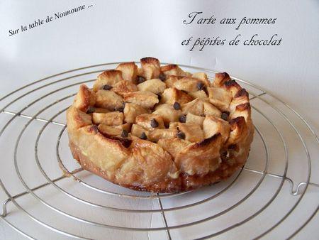 Tarte aux pommes et pépites de chocolat 1