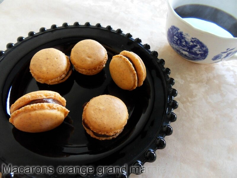 macarons orange grand marnier