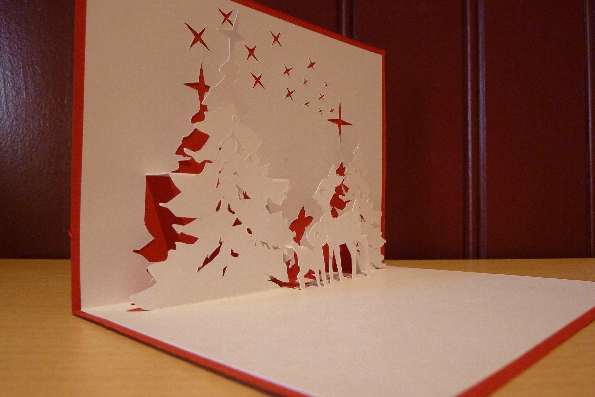 Carte De Noel En Kirigami Exactjuristen