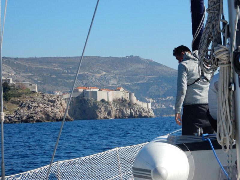 Les remparts de Dubrovnik vus de la mer 160217 6