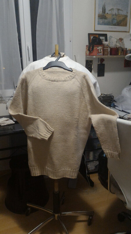 Mon premier pull top down.