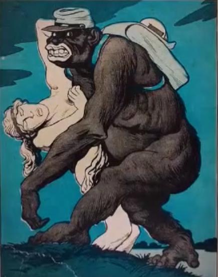 Caricature allemande LE NEGRE