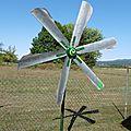 Éolienne 6 pales avec moteur hoverboard