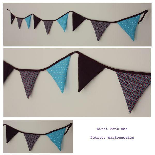 pack trio violet-bleu guirlande