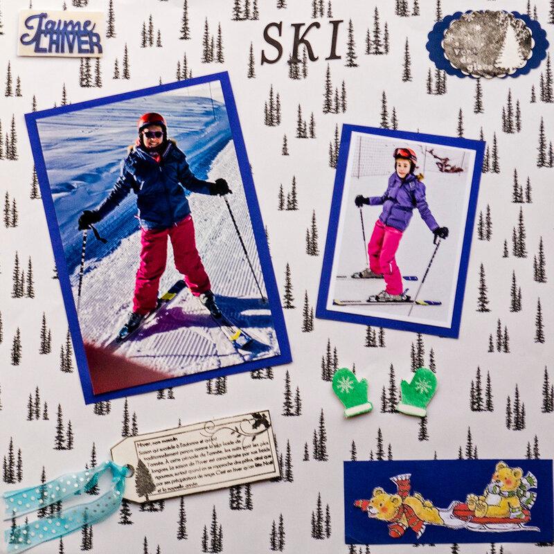 ski j'aime l'hiver