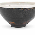 A very rare Cizhou 'oil-spot' white-rimmed tea bowl, Northern Song Dynasty