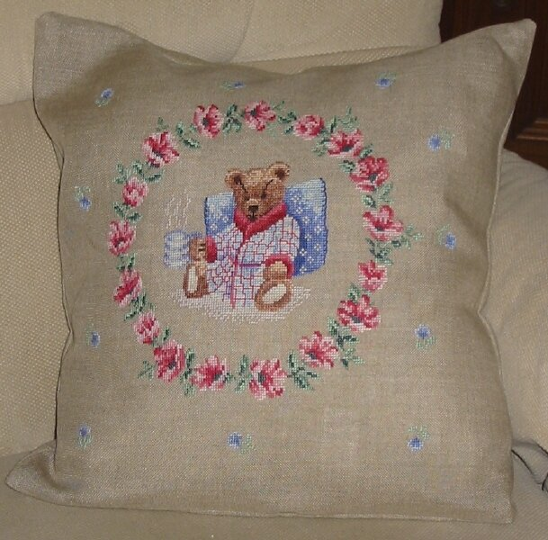 P2X coussin ours diner housse