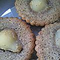 Tartelettes poires/frangipane a la noisettes