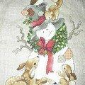 Mon premier RR - Ma broderie pour Adrienne (Noël)