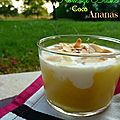 Trifle coco ananas
