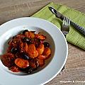 Carottes, olives noires et chorizo
