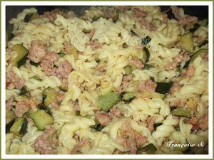 torti courgettes et chair à saucisses
