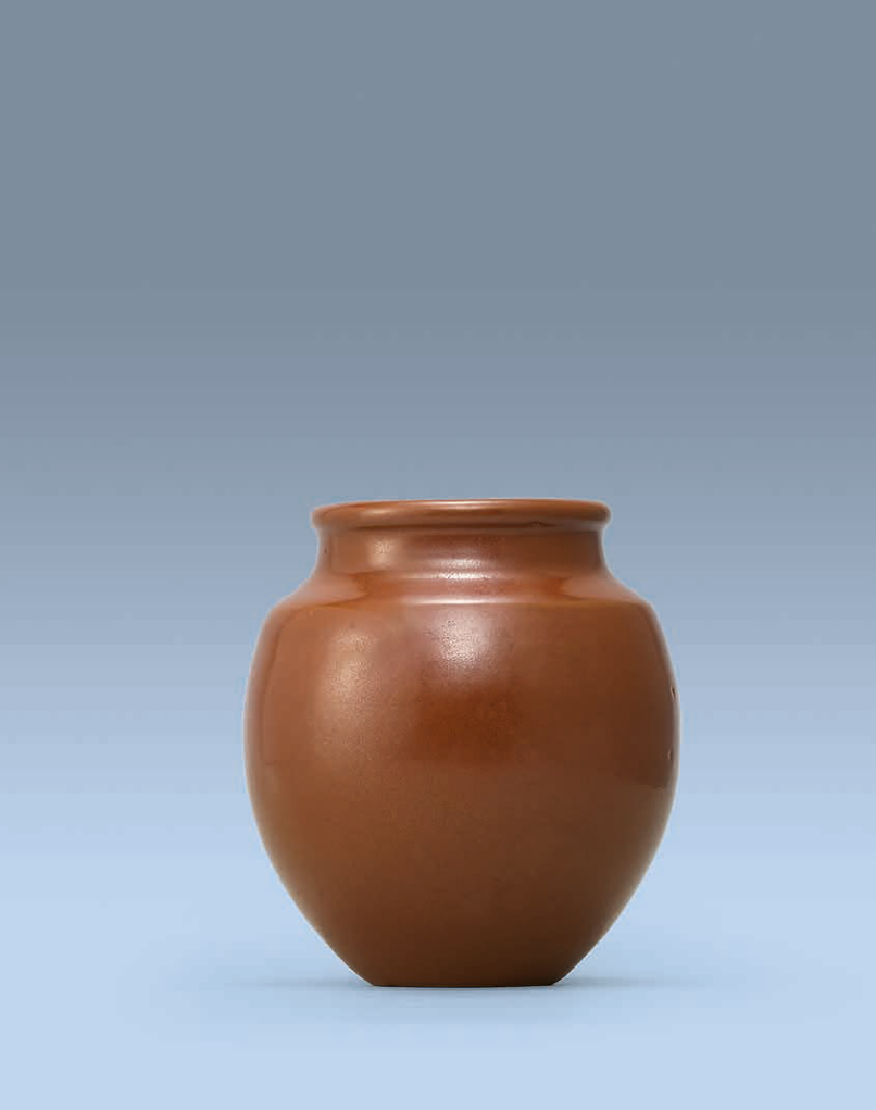 A Yaozhou persimmon-glazed jar, Song Dynasty (960-1279)