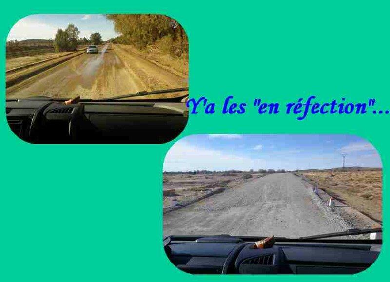 route en réfection
