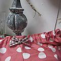 Culotte BIANCA en coton rose à très gros pois blancs (1)