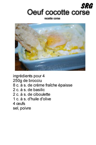 oeuf cocotte corse (page 1)