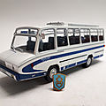 Berliet stradair 20 rs 612 minibus belle-clos. 1966. ixo pour hachette. collection berliet. #35. 1/43.