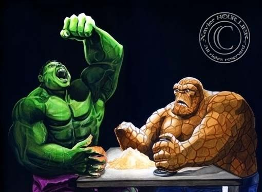 HULK_CHOSE_THE_THING_by_Xavier_Hourlier