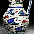 Ottoman turkey iznik pottery vessels at christie's london, 5 october 2010