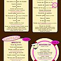 La mascotte - 3 - menus