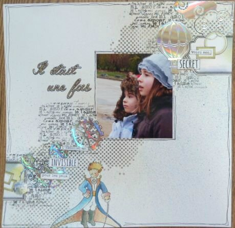 page scrapbooking hiver
