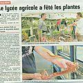Le lycée agricole a fêté les plantes