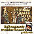 La mailleraye sur seine: conférence sur l'histoire des libertes normandes le 25 septembre 2015