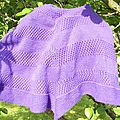 Textured shawl terminé !