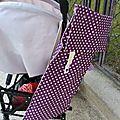 40. sac à pain en toile enduite violette et liberty rose