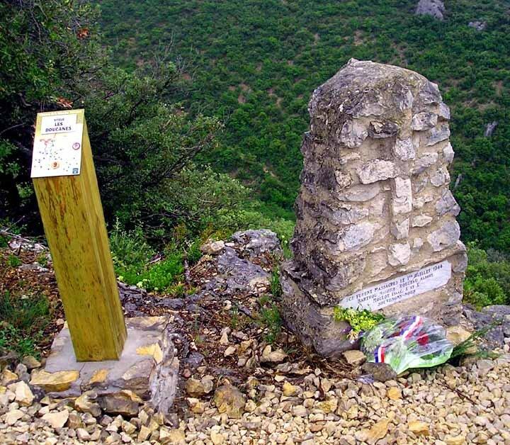 Stèle des Boucanes (Falaises de Romanet)
