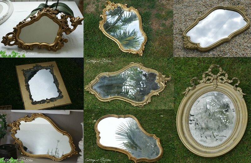 stock miroirs exemples Cottage et Patine