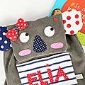 sac à dos maternelle koala personnalisé avec le prénom Elia