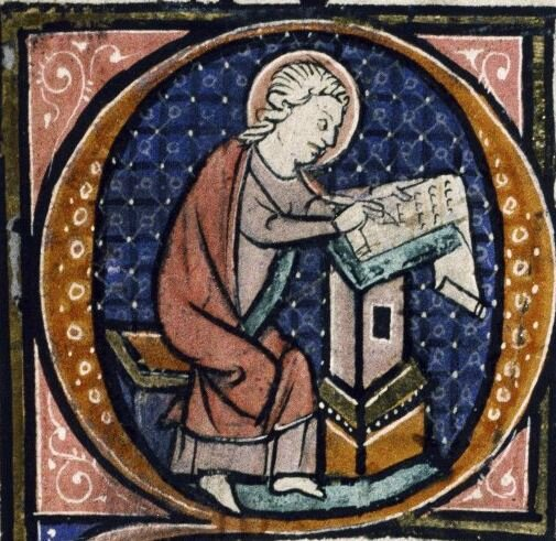 9-st-john-depicted-as-a-scribe-from-bodleian-library-ms-auct-d-1-17