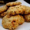 Cookies salés aux flocons d'avoine, chèvre et tomate séchées...parce qu'on m'avait confié une mission...