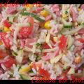 Toute coloree, la salade de riz