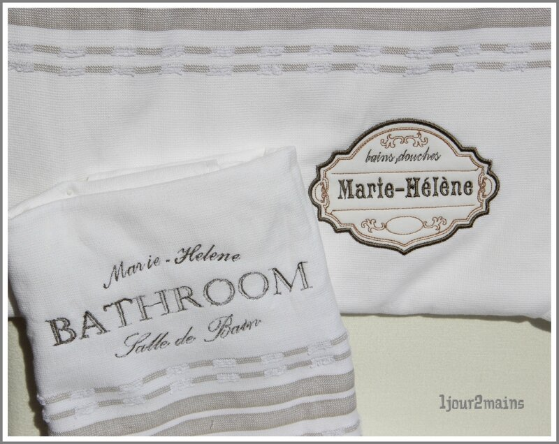 serviette bathroom