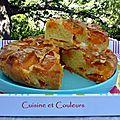 Gâteau semouline à l'amande et abricots