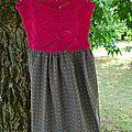 robe bretelle haut tricoté