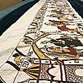 Une passionnée suédoise brode une réplique à l'identique de notre tapisserie de bayeux.