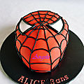Gâteau tête de spiderman - spiderman head cake