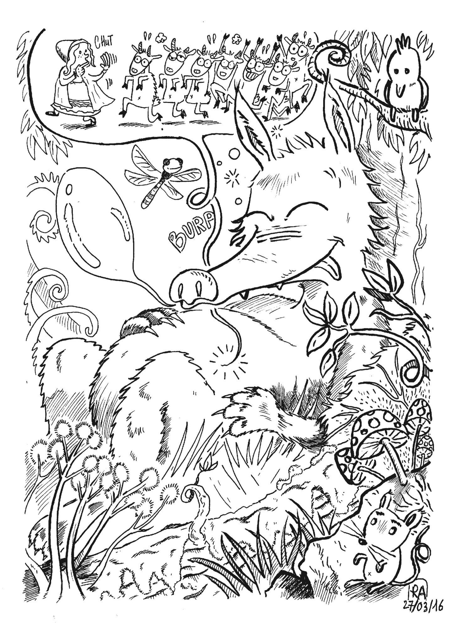 Fable Le Loup Et Les 7 Chevreaux Format 100cm X 70cmet